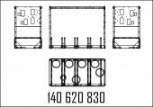 Измерительный блок 2-ecometer shell mpd sk98 вход. снаружи, выход п+л верх