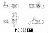 Измерительный блок 2-ecometer r shell sk98 вход снаружи, выход правый верх