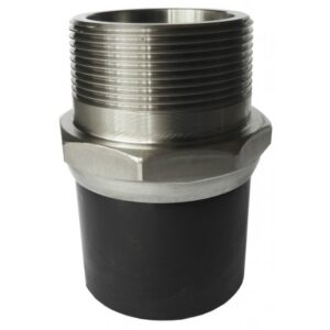 [81.050 SS] Соединение концевое 50 мм из нержавеющей стали с наружной резьбой