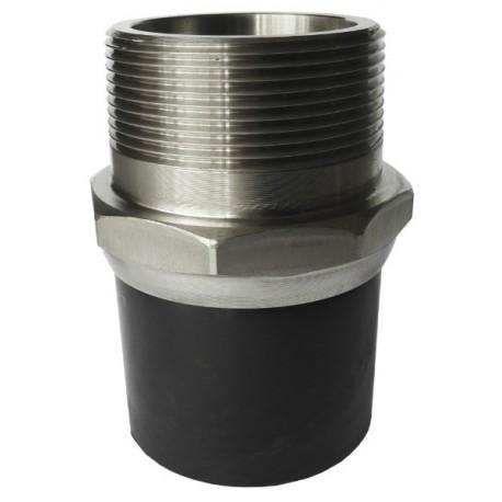 [81.063 SS] Соединение концевое 63 мм из нержавеющей стали с наружной резьбой